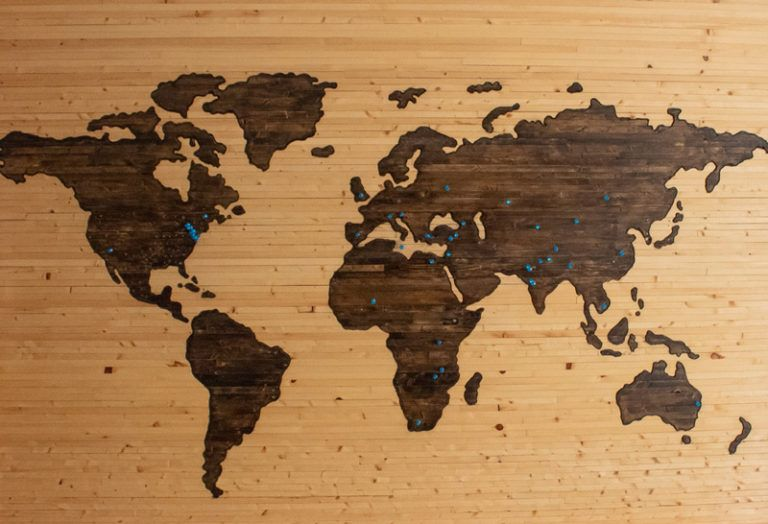 map of places to intern abroad