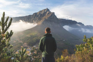 intern in cape town views of table mountain