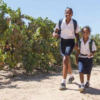 Give back by working in community development in Cape Winelands.
