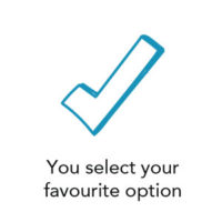 You select your favourite option