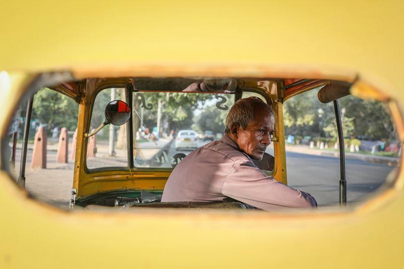 New Delhi taxi driver